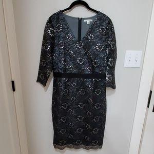 Banana Republic black and silver lace dress